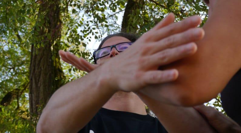 Hände beim Tuishou (Pushhands)