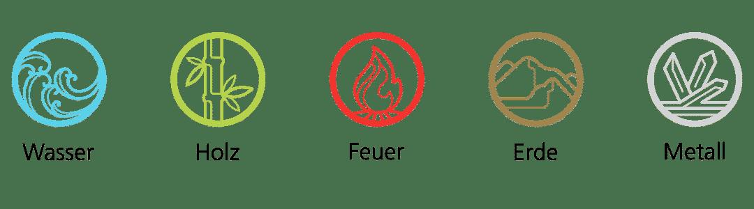 Die 5 Elemente   Wasser - Holz - Feuer - Erde - Metall